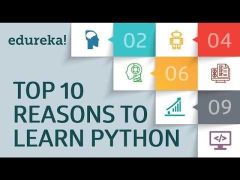 Top 10 Reasons to Learn Python | Python Programming | Python Tutorial | Python Training | Edureka