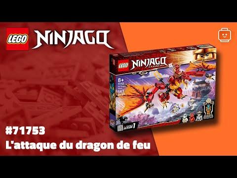 Vidéo LEGO Ninjago 71753 : L'attaque du dragon de feu