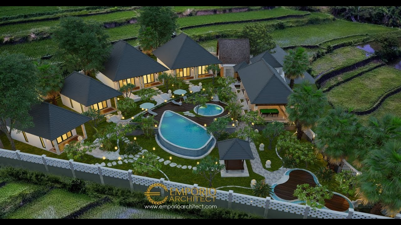 Video 3D Mrs. Lis Vila Bali Bungalow 1 Floor Design - Karangasem, Bali
