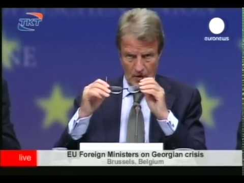 EuroNews. Экстренное заседание Совета ЕС 2008.08.13 16.25
