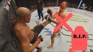 Anderson Silva Knockouts [Highlights]   Anderson Silva Knockout Kick To Face