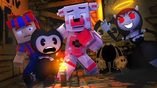 Funtime Foxy Saves Bendy From Alice Angel!!! (Minecraft Fnaf Roleplay)
