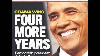 President Barack Obama Re-elected 2012 Whitney Houston Star Spangled Banner