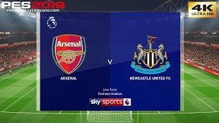 PES 2019 (PC) Arsenal Vs Newcastle | REALISTIC PREMIER LEAGUE PREDICTION | 1/4/2019 | 4K 60FPS