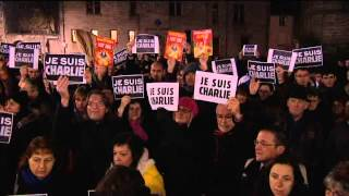 preview picture of video 'Rassemblement à Alençon suite à l'attentat contre Charlie Hedo'