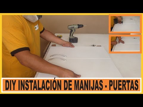 Puertas de melamina como colocar manijas web del for Manijas para puertas