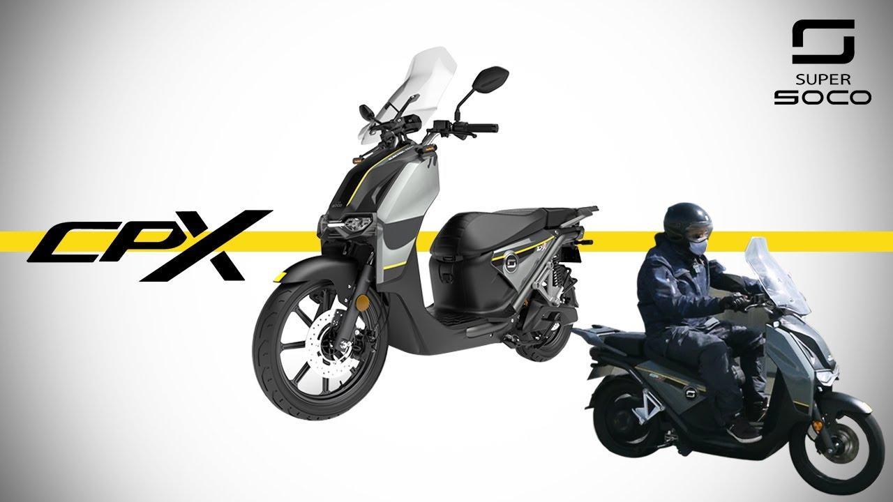 新価格で再登場!高速も乗れる電動大型スクーターSUPER SOCO CPX / ガソリンエンジンからもスムーズに乗り換えられる余裕のパワー