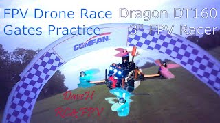 Dragon DT160 FPV RC Racing Drone - Race Gates Practice - SQ11 HD Video