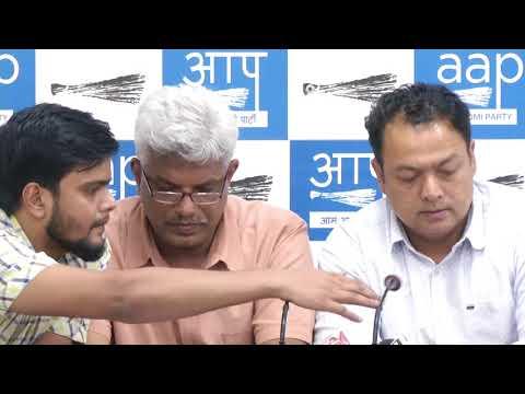 AAP National Secretary Pankaj Gupta and AAP MLA Nitin Tyagi Briefs on Metro Fare Hike