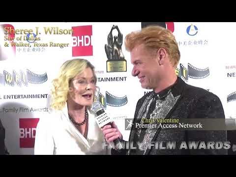 Sheree J. Wilson w/Chris Valentine for the Family Film Awards