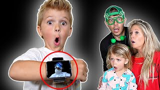 Scientist sent a SCARY message on the World's Biggest Smartwatch!