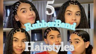 5 Easy Instagram! Baddie RubberBand Hair Tutorial!