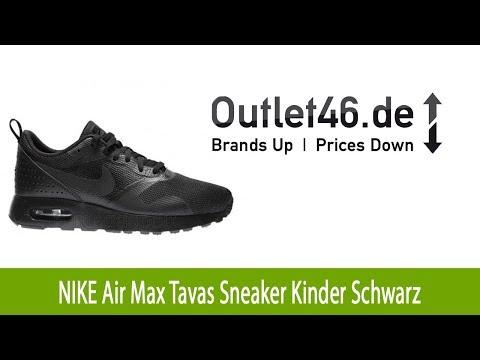 Trendiger NIKE Air Max Tavas Sneaker Kinder Turnschuhe Schwarz l Outlet46.de
