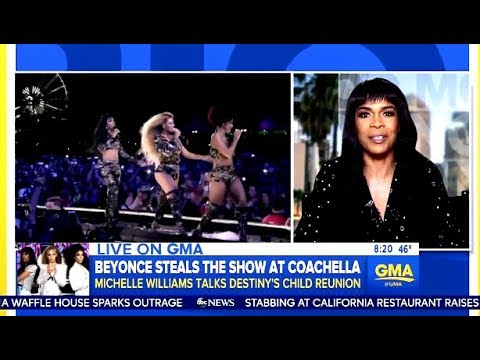 Michelle Williams Chats Reunion With Beyonce @ Coachella & Wedding Plans (GMA)