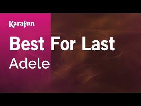 Best For Last - Adele   Karaoke Version   KaraFun