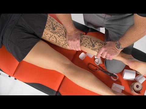 Dynamic tape Динамик тейп  - Техника тейпирования для cгибания колена
