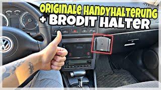 Golf 4 1.6 SR Bekommt eine Originale Handyhalterung + Brodit Halter | Für Alle Handys Smartphones⭐️