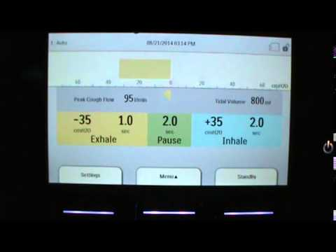 Explanation of Settings and Measurements on the Cough Assist Display Panel