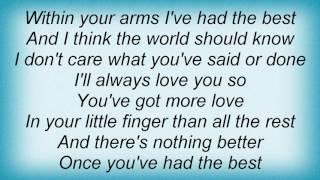 Alan Jackson - Once You've Had The Best Lyrics