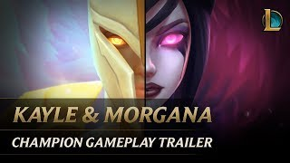 Kayle and Morgana: The Righteous and the Fallen   Champion Gameplay Trailer - League of Legends