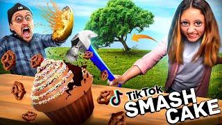 Tik Tok Treats & Trees go Crashing + a Squash Bomb & Cupcakes Smashing (FV Family Super Rando Vlog)