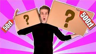 MYSTERY BOX ZA 500 ZŁ VS 50 ZŁ! *zarobiliśmy na nich*