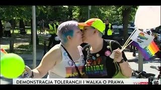 Materiał TVP o paradzie równości i LGBT (2015)