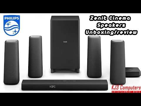 Phillips Zenit Bluetooth 5.1 Cinema Speakers/ Soundbar Unboxing, Review, And Setup (CSS5530B/37 )