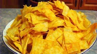 Домашние чипсы из лаваша (закуски к пиву рецепты).