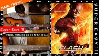 The FLASH Main Theme (Instrumental) - Guitar TUTORIAL (with Tabs) - [Super Easy!!!]