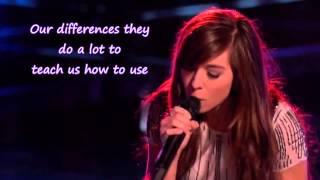 Christina Grimmie - The Voice - I Won't Give Up (Lyrics)