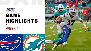 Bills vs. Dolphins Week 11 Highlights | NFL 2019