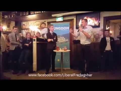 Liberal Fredagsbar   Alex Vanopslagh vs  Rasmus Brygger   liberalisme og feminisme   25 sep 2015