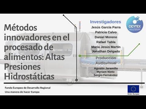 Fotograma del vídeo: Métodos innovadores en el procesado de alimentos. Altas Presiones Hidrostáticas