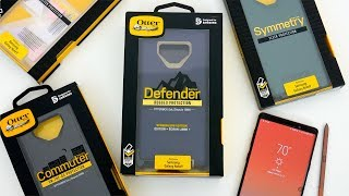 Samsung Galaxy Note 9 - All OtterBox Cases: Defender vs Commuter vs Symmetry Comparison