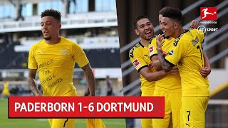 Jadon Sancho scored his first-ever career hat-trick as Dortmund scored six second-half goals to secure an emphatic victory over Paderborn.  Visit and subscribe to our 'BT Sport Boxing' YouTube channel ➡️ http://www.youtube.com/c/btsportboxing  Twitter: http://twitter.com/btsport Facebook: http://www.facebook.com/btsport Instagram:http://instagram.com/btsport Website: http://sport.bt.com