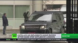 Expelled UK diplomats leave Russia after same step applied in London