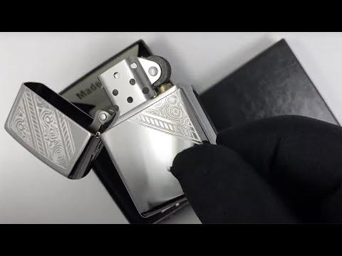 49165 Зажигалка Zippo Lace, High Polish Chrome