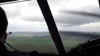 Уход на второй круг Ан-2 (HD) / Antonov AN-2 go around, cockpit view (HD)