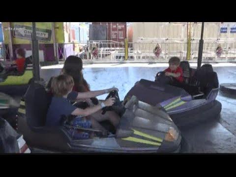 Driving the bumper cars at the South Carolina State Fair