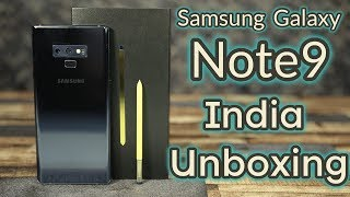 Samsung Galaxy Note 9 India Unboxing & First Look