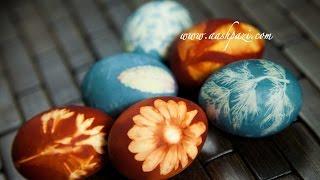 Пасхальные яйца с натуральными ингредиентами.