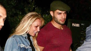 Britney Spears Goes On Late-Night Dinner Date With Boyfriend Sam Asghari - EXCLUSIVE