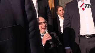16.10.19 Кернес протестувальникам з «Барабашово»: «Дорогу побудують». Ті у відповідь: «Ганьба!»