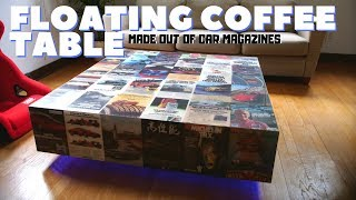 Floating Coffee Table made out of Recycled Car Magazines