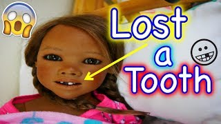 Silicone Baby BIG SISTER Reborn Child LOST A TOOTH! Tooth Falls Out in Pretend Play Roleplay Video!
