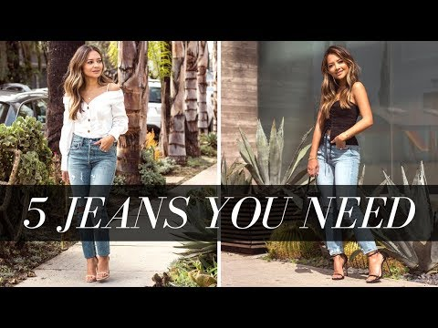 5 Jean Trends You Need Now | 5 Denim Must Haves 2018