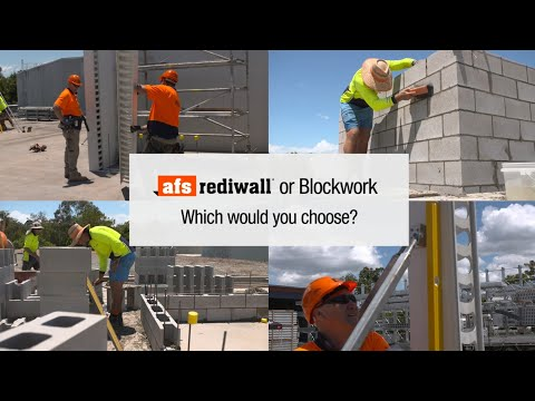 AFS Logicwall® vs blockwork staircore challenge