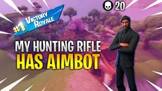 MY HUNTING RIFLE HAS AIMBOT | 20 KILL SOLO SQUAD