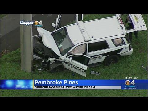 Pembroke Pines Officer Injured In Morning Crash